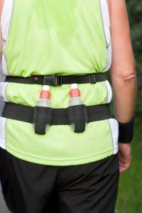 water bottle belt on back of runner