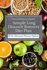 text overlay as long distance runners diet plan