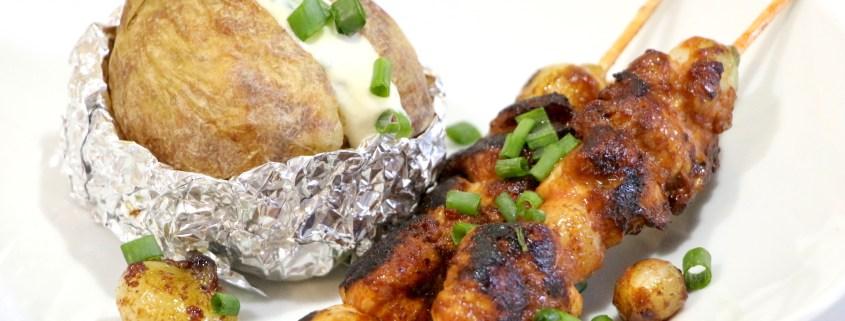 brochettes de poulet sauce BBQ maison