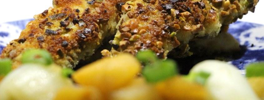 poulet pané à la pistache