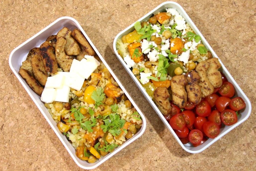 salade épicée de pois chiches et tofu