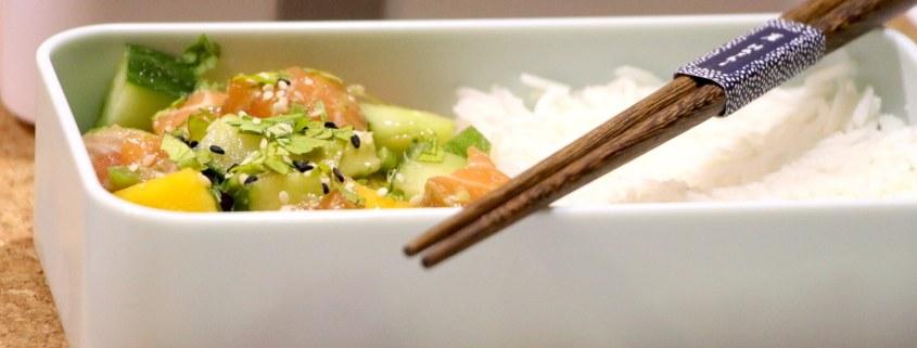 tartare de saumon avocat et mangue