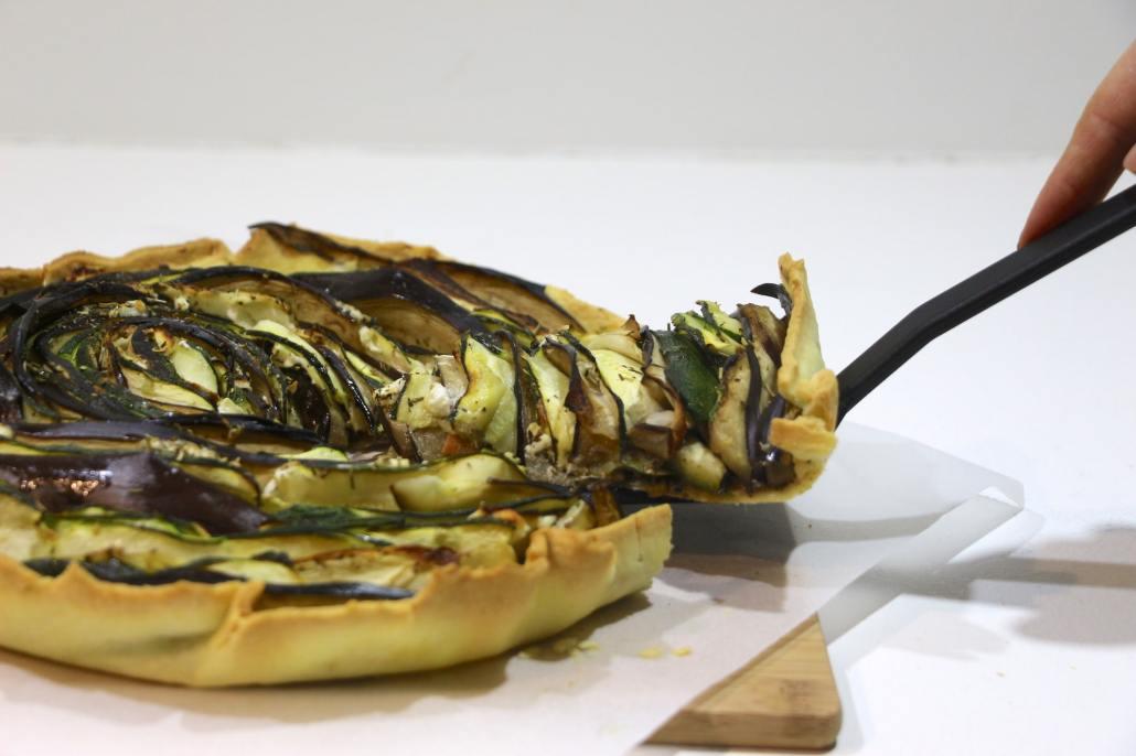 tarte fleur à la tapenade et légumes