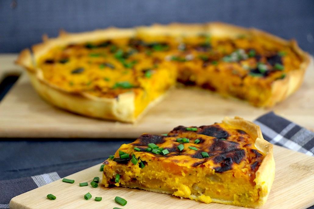 tarte salée au potiron parmesan