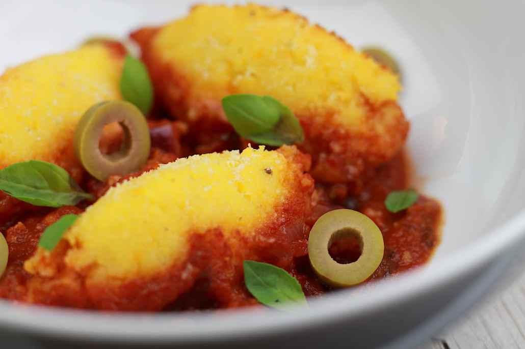 gnocchis de polenta à la tomate