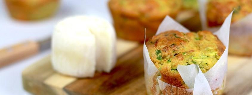 muffins courgette et chèvre sec