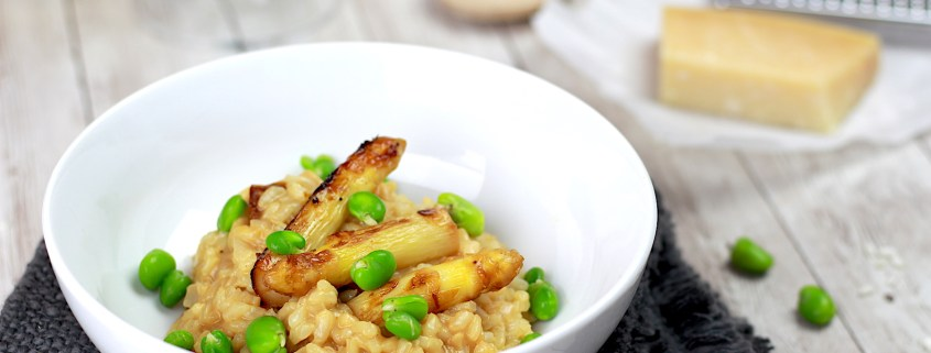 risotto aux asperges blanches caramélisées