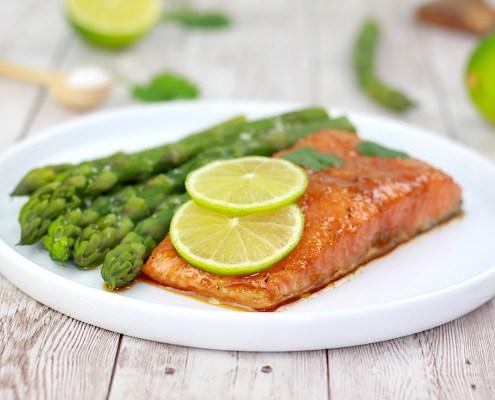 saumon confit au citron vert