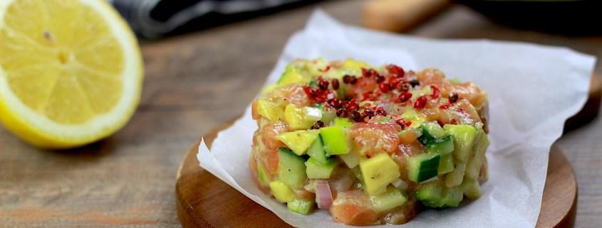 tartare saumon avocat et pomme