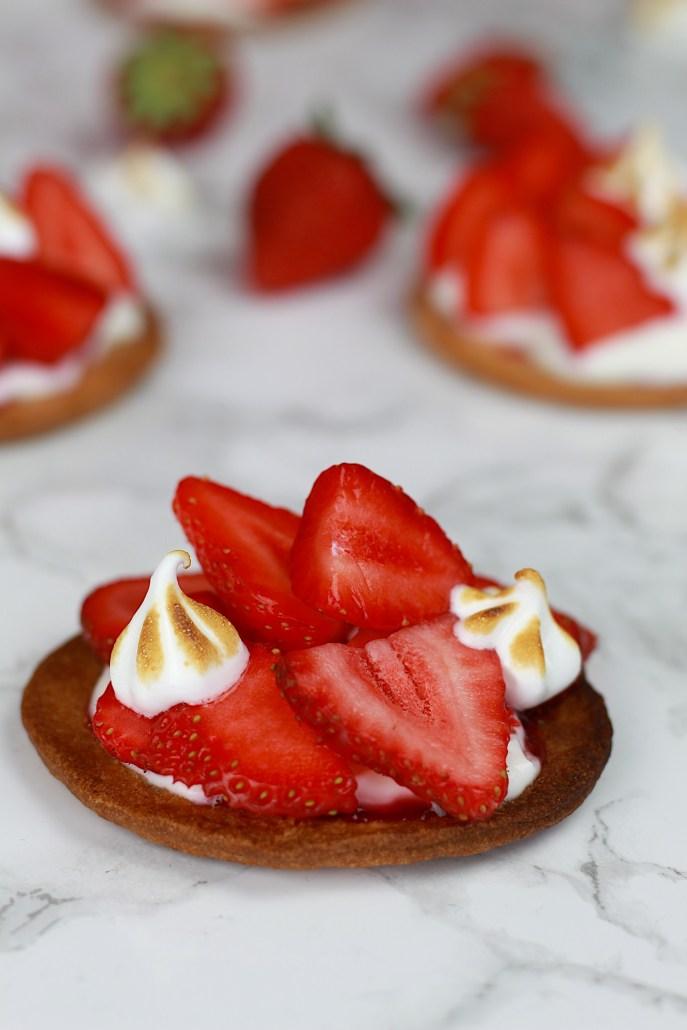tartelettes meringuées à la fraise
