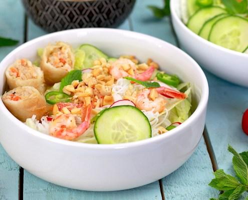bo bun aux crevettes marinées