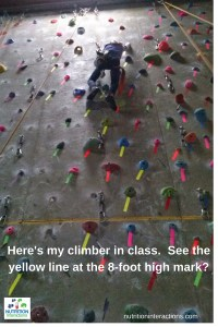 Nutrition Interactions Here's my climber in class