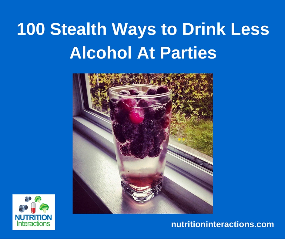 100 ways to drink less alcohol