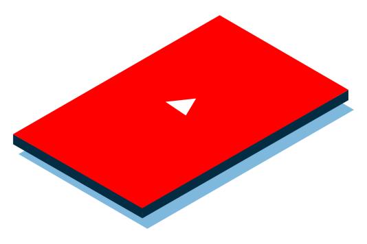 isometric youtube video icon