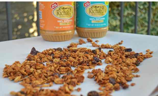 peanut butter granola w crazy richards pb