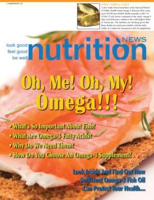 Nutrition News Omega 3 OIls Cover
