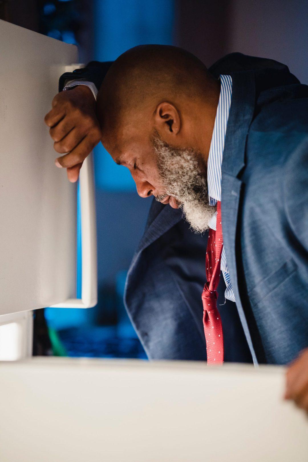 Black Businessman In Distress