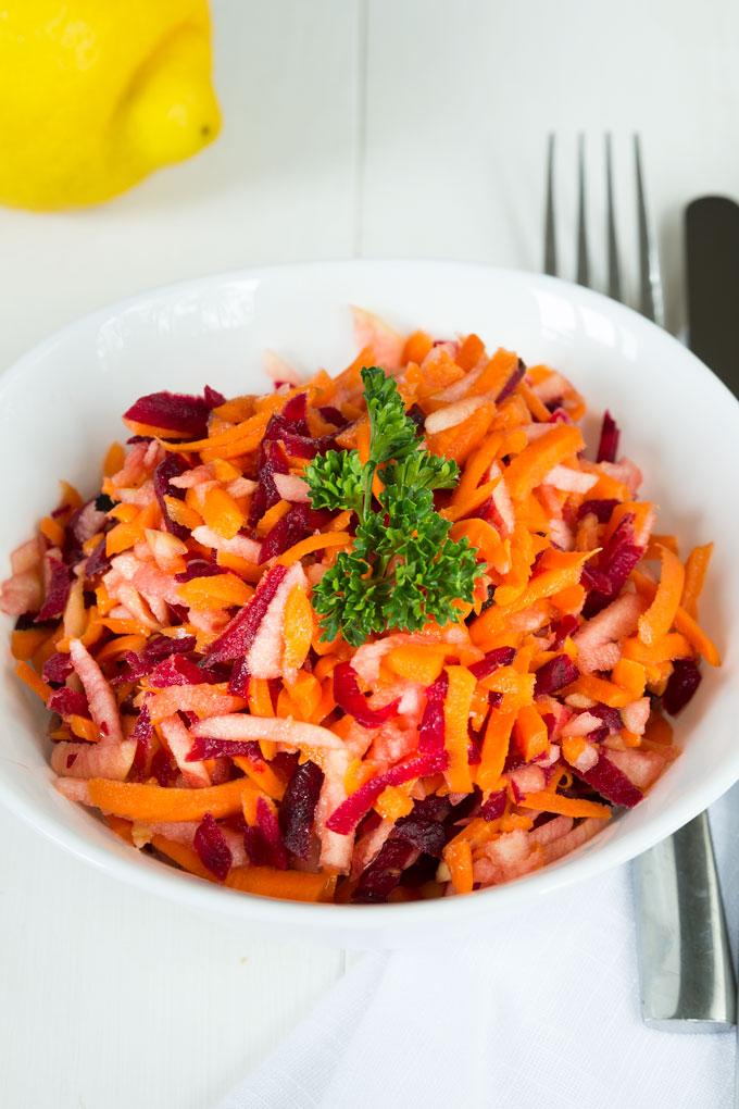 apple beet carrot salad