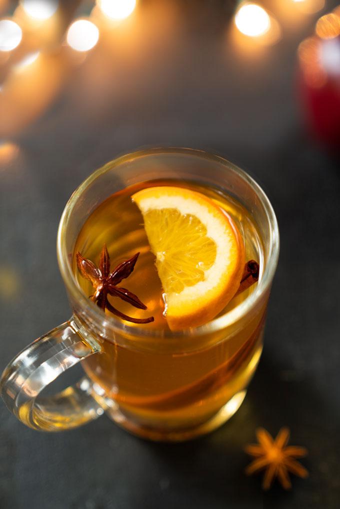 apple cider - hot, mulled, healthy, no sugar