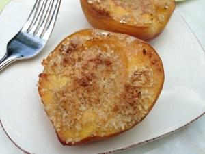 Amaretto Roasted Peaches
