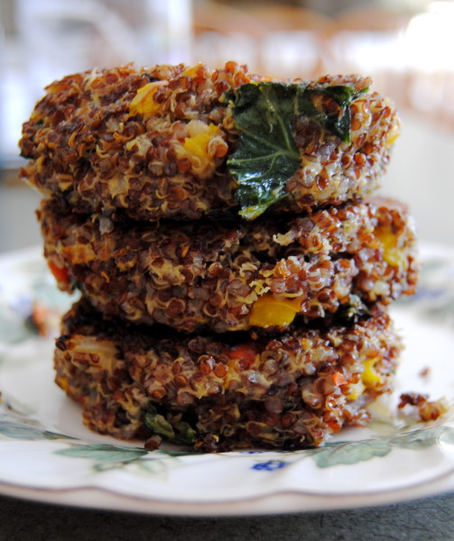 Pepper, Kale and Quinoa Burgers by Carly Bossert, NutritionStarringYOU.com intern