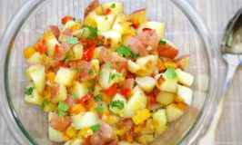 Tri Colored Pepper Potato Salad