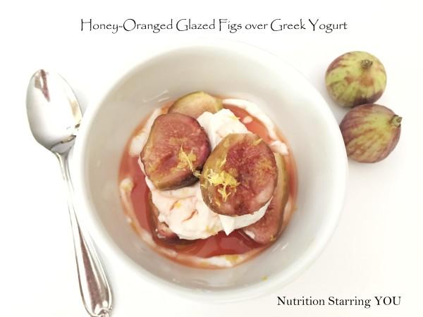 Honey-Orange Glazed Figs over Greek Yogurt