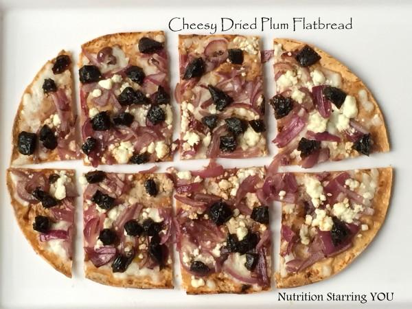 Cheesy Dried Plum Flatbread