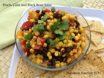 Peach Corn and Black Bean Salsa