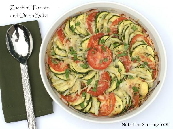 Zucchini, Tomato and Onion Bake