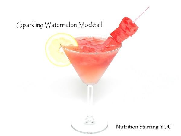 Sparkling Watermelon Mocktail