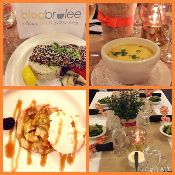 Delicious dinner at Blog Brulee