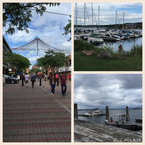 Downtown Burlington, Vermont and Lake Champlain