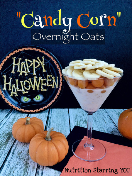 Candy Corn Overnight Oats