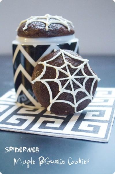 Spiderweb Maple Brownie Cookies- fANNEtastic food