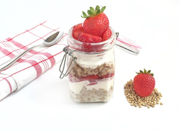 Strawberry Vanilla Sorghum Parfait
