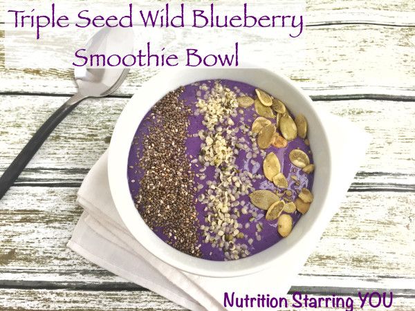 Triple Seed Wild Blueberry Smoothie Bowl with tofu