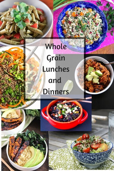 Whole Grain Lunch and Dinner Recipes- Whole Grain Sampling Day