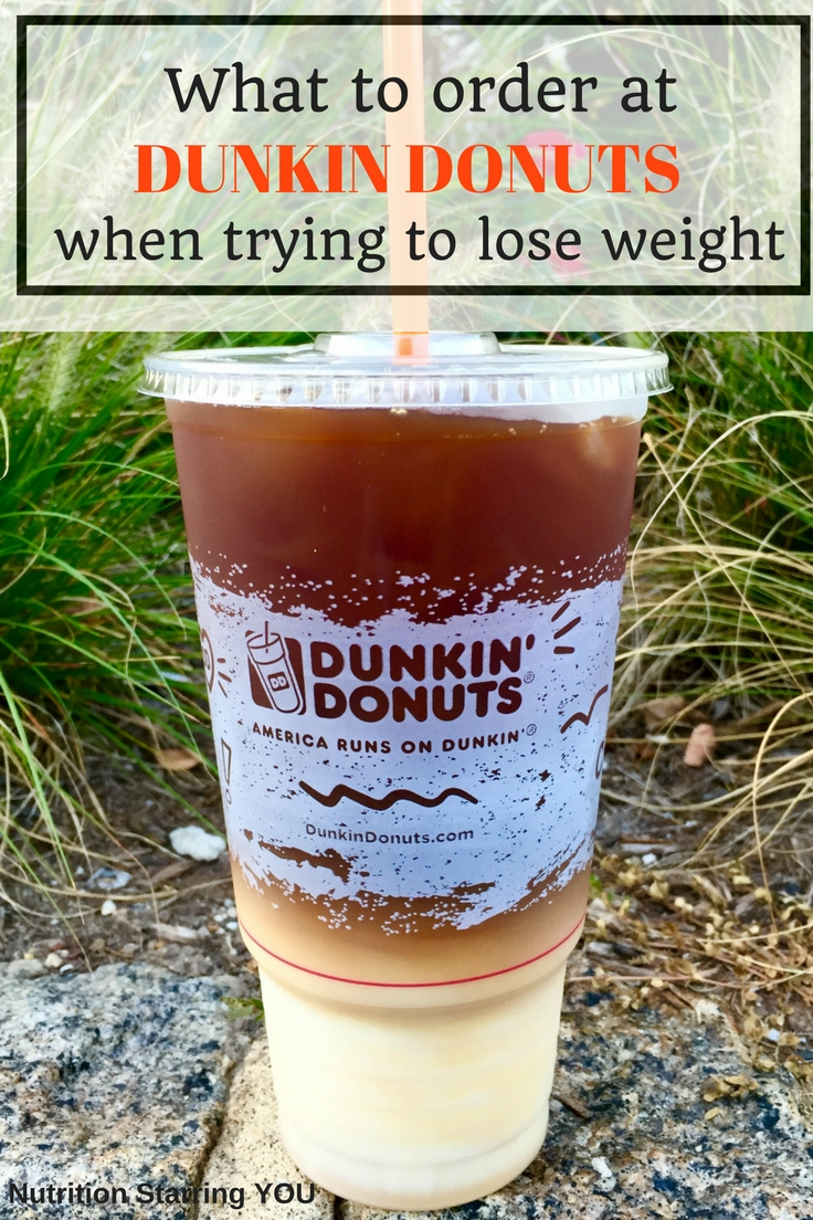 What to order at Dunkin Donuts when trying to lose weight ...