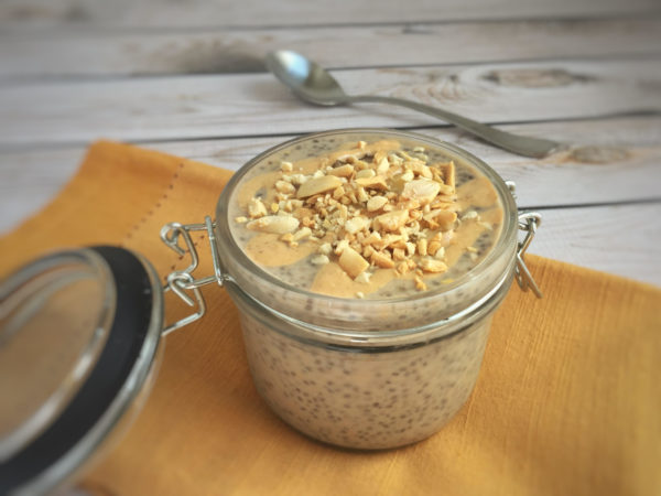 PB Banana Breakfast Chia Pudding – Low FODMAP