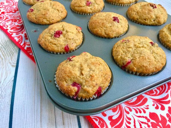 Cranberry Banana Whole Grain Muffins