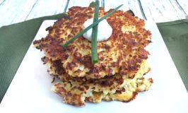 Cauliflower Latkes (Pancakes)