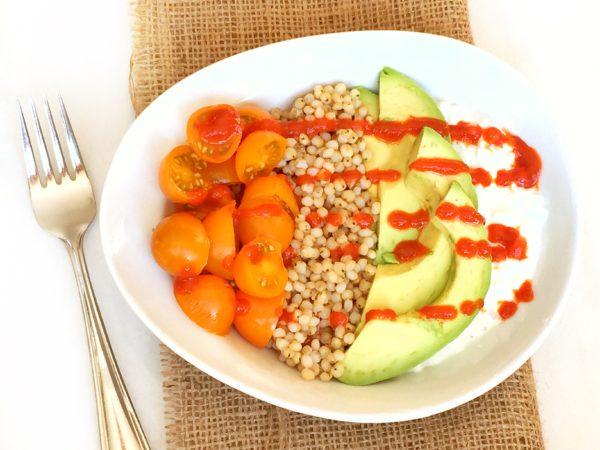 Creamy, Crunchy Sorghum Avocado Salad