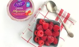 Dannon Light and Fit Greek Mousse with raspberries