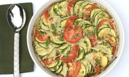 Zucchini, Tomato and Onion Bake