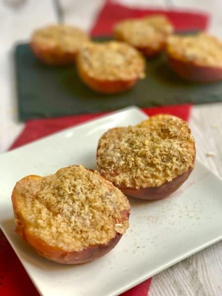 Amaretto Roasted Peaches