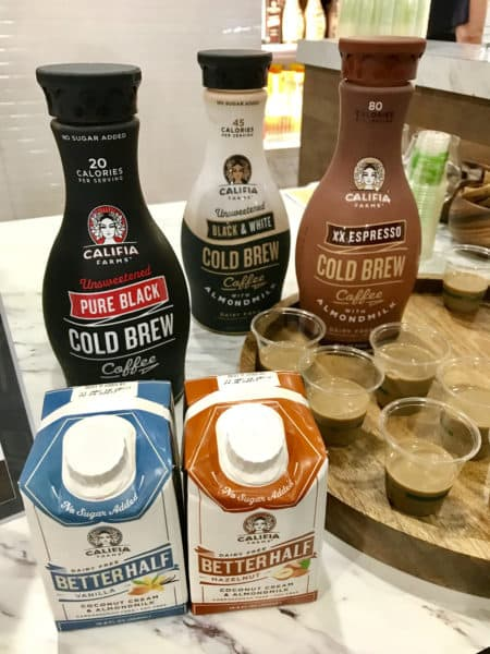 Califia Farms Cold Brew Coffe and Better Half Creamers