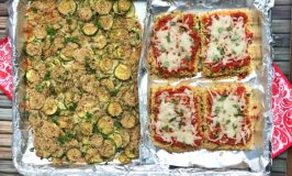 Sheet Pan Tofu and Zucchini Parmesan