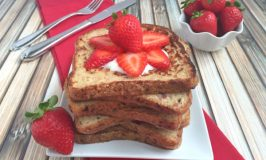 Strawberry Vanilla Protein French Toast