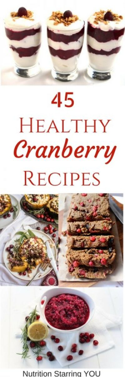 45 Healthy Cranberry Recipes